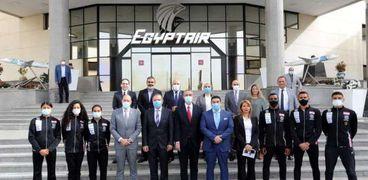 مصر للطيران توقع بروتوكول تعاون لرعاية الاتحاد المصري الخماسي الحديث