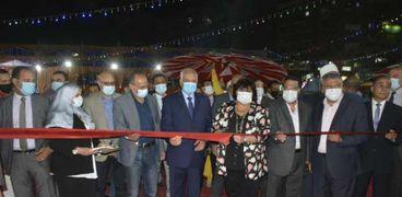 وزيرة الثقافة ومحافظ الجيزة يفتتحان معرض فيصل للكتاب