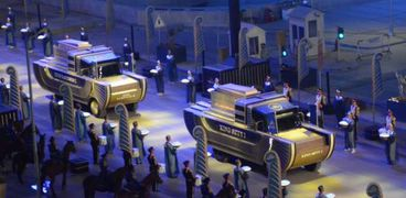 مشهد من حفل نقل المومياوات