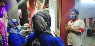 حملة الصحة التوعوية ضد كورونا بالشوارع