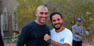 أحمد عبد اللاه مع المخرج بيتر ميمي