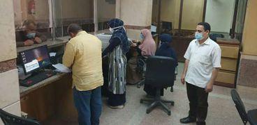 بدء التطبيق التجريبى لمنظومة البناء الجديدة بمركز ناصر في بني سويف