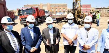 محافظ الغربية يشهد بدء أعمال الحفر بمشروع إنشاء فندق الشانزليزيه