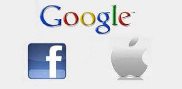 جوجل وأبل وفيسبوك