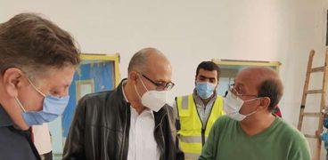 رئيس جامعة طنطا يتفقد مستشفيات الجامعة