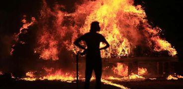 حريق جنوب إسرائيل