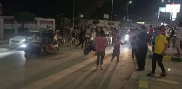 بالصور احتفالات ومسيرات للغزل المحلة عقب الفوز علي النادي الأهلي