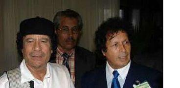 قذاف الدم برفقة العقيد معمر القذافي
