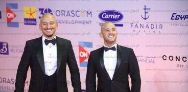 خالد منصور وشادي ألفونس في مهرجان الجونة السينمائي 2019