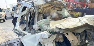 حادث تصادم سيارة كانت تقل مصريين في االكويت