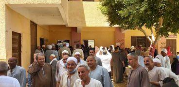 إقبال كثيف من الناخبين بلجان قرية بهبشين