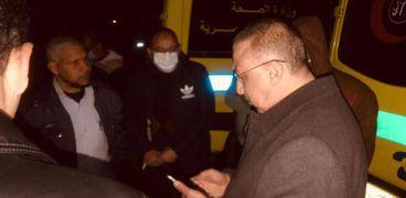 موقع الحادث في الإسكندرية