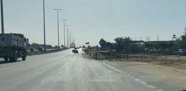 اعادة انتظام الحركة المرورية علي طريق الاسماعيلية الصحراوي