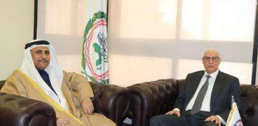 رئيس البرلمان العربي يستقبل السفير أحمد خطابي الأمين العام المساعد لجامعة الدول العربية