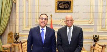 الدكتور على عبدالعال، رئيس مجلس النواب والمهندس مصطفى مدبولي رئيس الوزراء