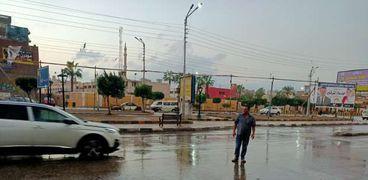 أمطار غزيرة على الدقهلية