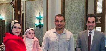 أسرة المسلماني خلال لقاء عمرو دياب