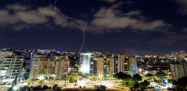 منظومة القبة الحديدية الإسرائيلية تعترض صاروخ من قطاع غزة