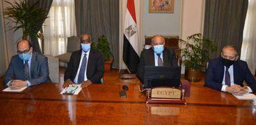 وزير الخارجية سامح شكري في المؤتمر الوزاري حول ليبيا