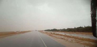الأمطار أمس في البحر الأحمر