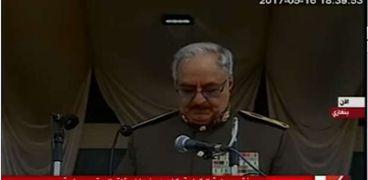 القائد العام للقوات المسلحة الليبية-المشير خليفة حفتر-صورة أرشيفية