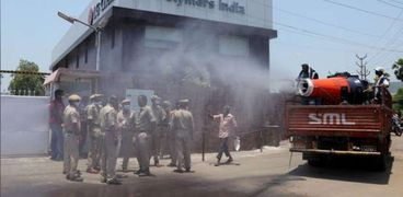 حادث تسريب غاز  من مصنع في الهند