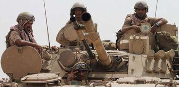 عناصر من قوات التحالف العربي