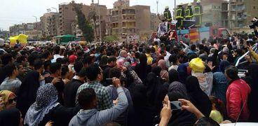 تشييع جثمان النقيب محمدي الحسيني بمسقط رأسه في الشرقية
