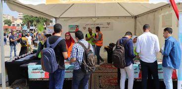 إستقبال الطلاب الجدد والقدامى بجامعة عين شمس