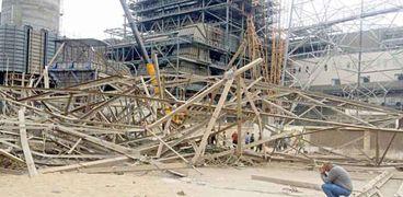 صورة - لبرج كهرباء أوسيم عقب سقوطه-  أمس