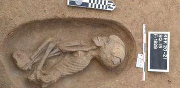 مقابر في منطقة كوم الخلجان في الدقهلية