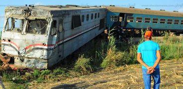 حادث تصادم قطارين بالإسكندرية