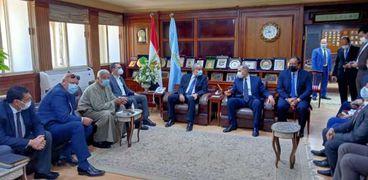 محافظ كفر الشيخ يستقبل وزير التموين لتفقد عدد من المشروعات الخدمية