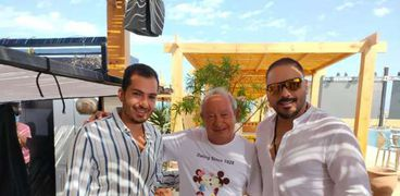 نجيب ساويرس برفقة رامي عياش