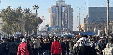 مظاهرات تطالب بالثأر من قتلى سليماني والمهندس في العراق