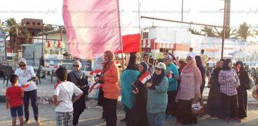 المهرجان الرياضى للمشى والجري للفتاة فى كفر الشيخ