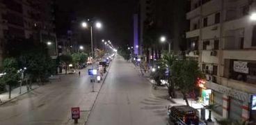 شارع التحرير بعد تطبيق قرار حظر التجوال