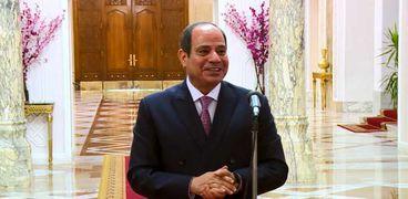 الرئيس عبدالفتاح السيسي خلال كلمته بتكريم أبطال الألومبياد