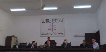 المستشار إيهاب جمال عبد الحكيم رئيس الدائرة الثالثة بمحكمة جنايات الفيوم