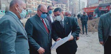 متابعة أعمال تطوير القاهرة
