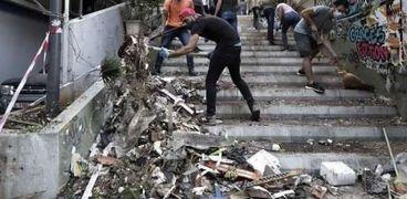 بالفيديو.. مشاهد مؤثرة من انفجار بيروت