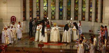 قداس عيد الميلاد بالكنيسة الكاثوليكية - ارشيفية