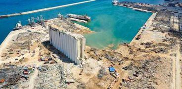 صومعة القمح شبه المدمرة في مرفأ بيروت