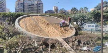 """افتتاح ساعة """"الزهور"""" وسط الإسكندرية في أعياد الربيع"""