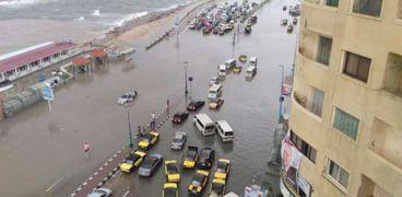 أمطار تضرب الإسكندرية