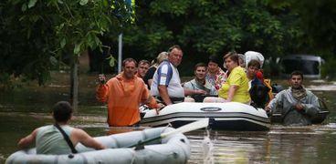 شبه جزيرة القرم تتعرض لأمطار وفيضانات