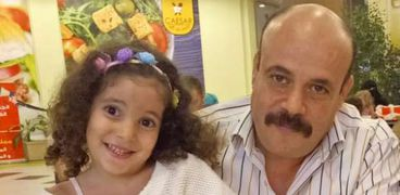 آخر صورة للشهيد اللواء امتياز كامل مع ابنته علياء