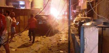 انفجار خزان مازوت في بيروت