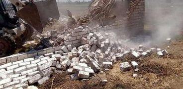 إزالة 388 حالة تعدي على ضفتي نهر النيل بمساحة38067 م٢ بالغربية