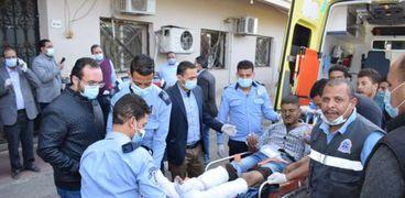 عاجل.. الصور الأولى للمصابين في حادث قطاري سوهاج داخل المستشفى الجامعي